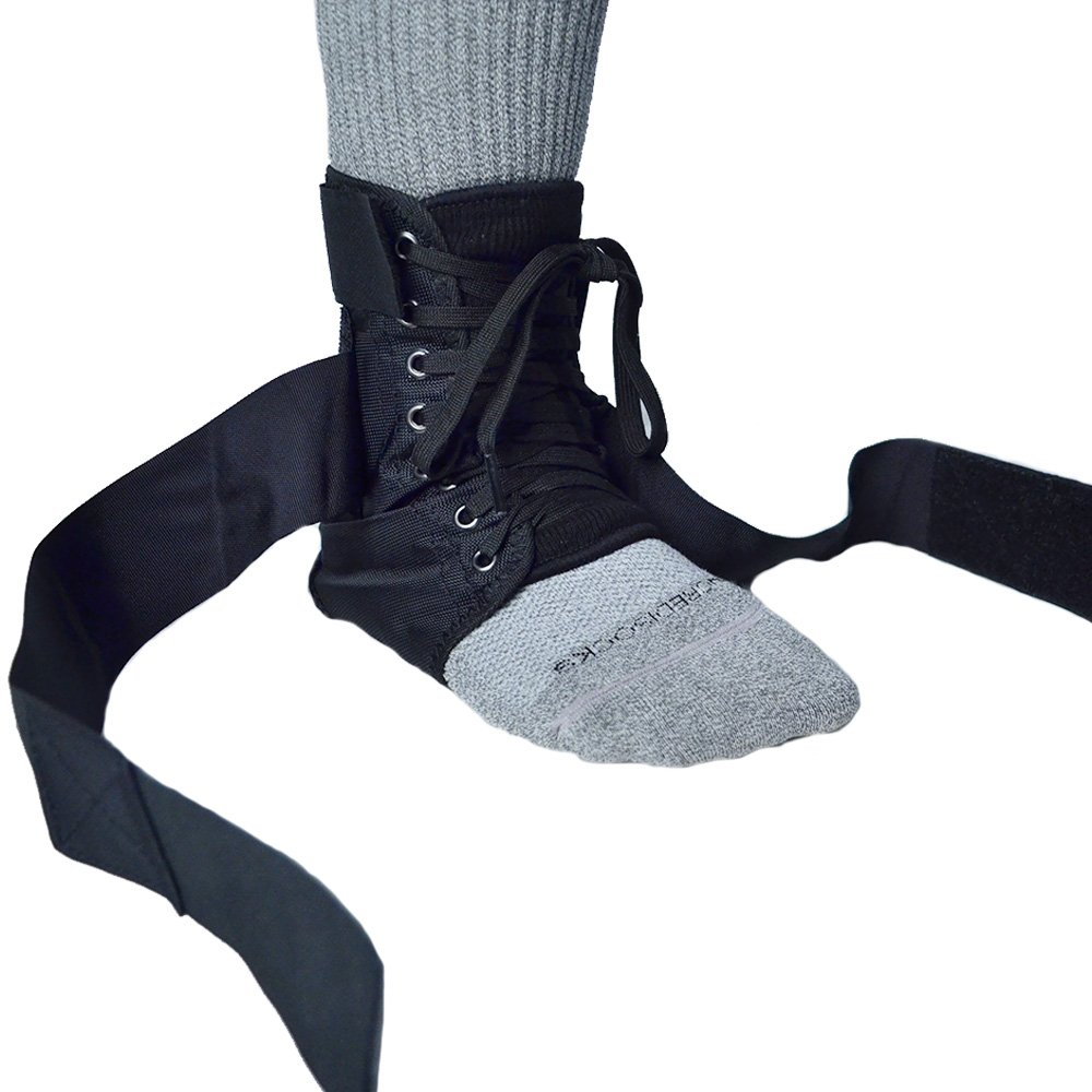 BraceAbility Pediatric Lace-Up Ankle Support for Kids