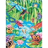 Dimensions 9-Inch By 12-Inch Works Color By Number Kit, Frog Pond Pencil