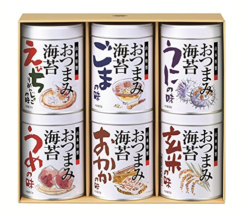 Yamamoto seaweed shop seaweed snacks seaweed 6 cans assorted [/ Sesame / UME, or brown rice / shrimp plump and so funny: Kyushu with Akemi producing domestic Nori seaweed gift gifts home [Head Office]