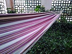 Hangit Cotton Fabric Hanging Hammock - Pink Stripe
