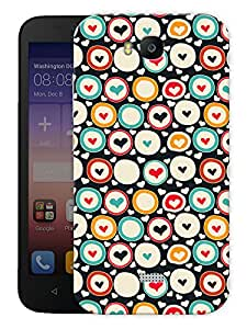"Humor Gang Heart Spots Printed Designer Mobile Back Cover For ""Huawei Honor Bee"" (3D, Matte, Premium Quality Snap On Case)"