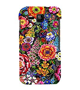 PrintVisa Colorful Flower Pattern 3D Hard Polycarbonate Designer Back Case Cover for Micromax Bolt S301