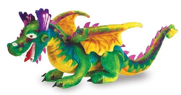 Melissa & Doug Giant Dragon Stuffed Animal (over 3 feet long) (Color: Multi/None, Tamaño: Large)