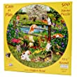 Cats At Play - 500 Piece Round Jigsaw Puzzle