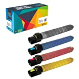 Do it Wiser Compatible Toner for Ricoh Aficio MP C3001 C2800 MP C3501 MPC3001 MPC3501-841578 841423 841422 841421-4 Pack - Black 22,500 Colors 16,000 Pages (Color: 4 Pack, Tamaño: High Yield)