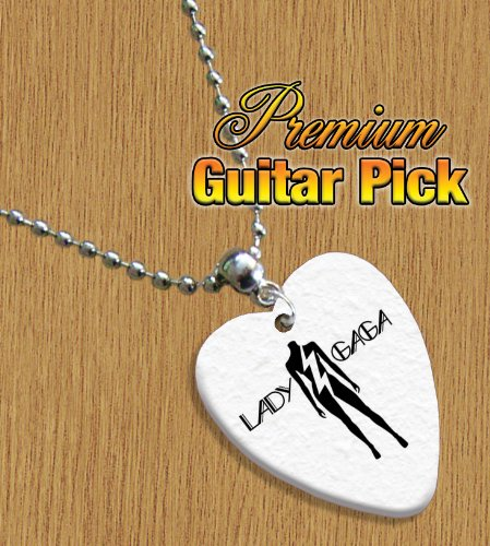 Lady Gaga Love Heart Guitar Pick Chain / Necklace