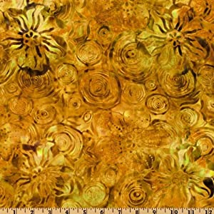 Amazon.com: 108'' Wide Tonga Batik Quilt Backing Gold Fabric By The
