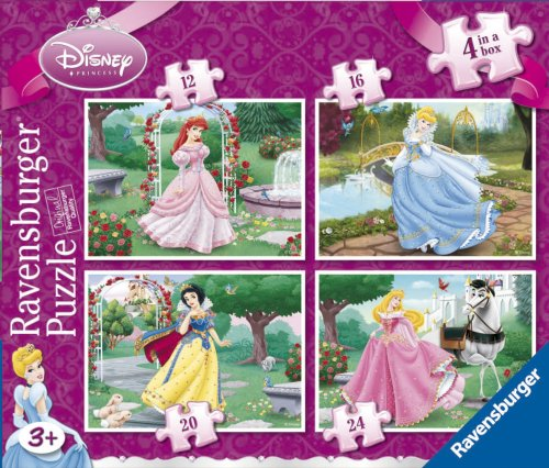 Ravensburger Disney Princess 4 Jigsaw Puzzles in a Box (12, 16, 20 and 24 Pieces)