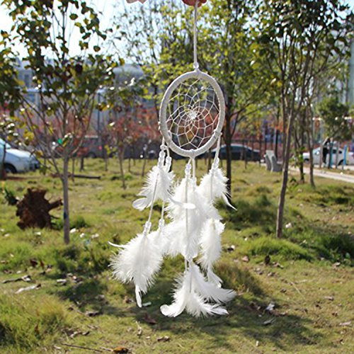 Handmade Dream Catcher Circular Net With feathers Wall Hanging Decoration Decor Ornament Craft Gift New