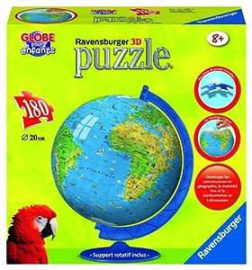 Ravensburger - 11434 - Puzzle Enfant - Mappemonde - 180 Pièces