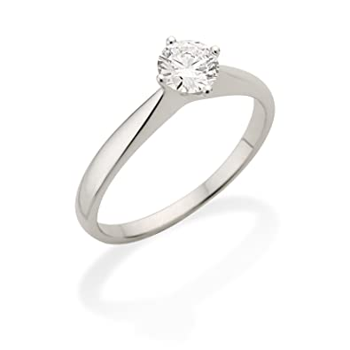 Miore 0.30ct G-H/VS Round Brilliant Certified Diamond Solitaire Engagement Ring in 18ct White Gold