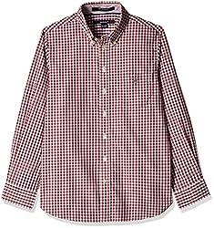 Gant Boys' Shirt (GBSEF0013_Maroon Red_XXL)