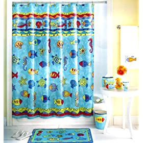 Calypso Fabric Shower Curtain