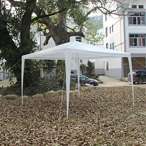 Z ZTDM 10X10 Ft Pop Up Waterproof Foldable Tent  Portable Home Outdoor Party Tent Shade Instant Folding Gazebo With Carry Bag White & EasyGoWheeler u2013 Universal Fit Pop Up Canopy Tent Rolling Wheeled ...