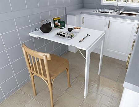ZXLDP Escritorio Plegable Para Ordenador Escritorio Simple Para Ordenador Portátil Mesa Montada En La Pared Mesa De Oficina Mesa De Comedor Creativa Color Opcional ( Color : Blanco )
