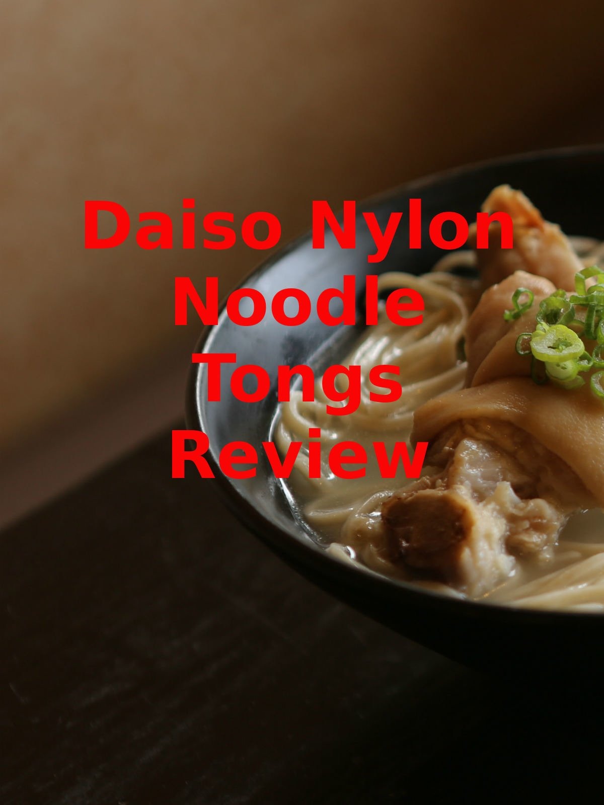 Review: Daiso Nylon Noodle Tongs Review