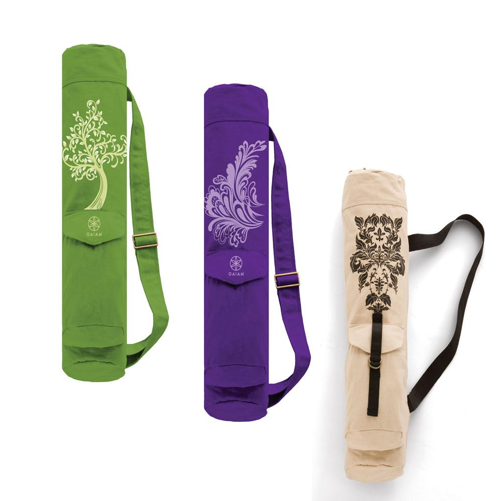 Amazon.com : Gaiam Yoga Mat Bag, Cherry Blossom : Sports