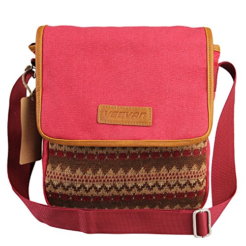 Great Deal! Hynes Eagle Leisure Style Small Canvas Cross Body Bag