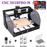 CNC 3018pro-M DIY Mini CNC Machine, TopDirect GRBL Control 3 Axis Mini DIY CNC Router Engraver with Offline Controller, Working Area 300x180x45mm, for Wood Plastic Acrylic PCB PVC