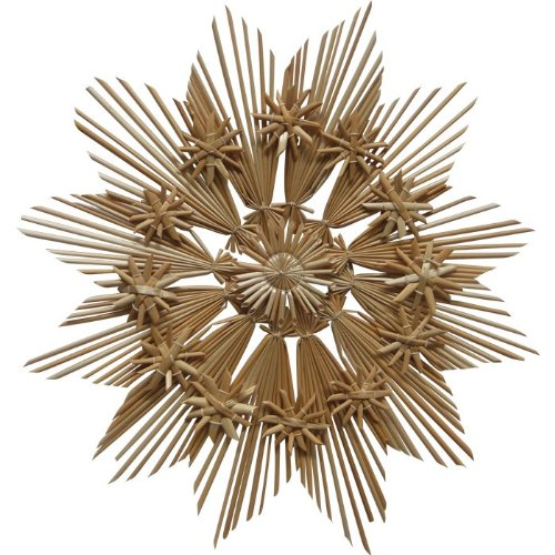 Image of Christmas Straw Ornament - Large Star Style # B, 11 inches