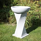 Garden Bird Bath - Granite Resin Birdbath Feeder