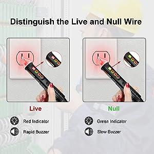 Non-Contact Voltage Tester Lomvum Electric Tester Pen AC 12V-1000V/48V-1000V Voltage Detector with Flashlight, Alarm Mode & /Null/Live Wire Tester Adj