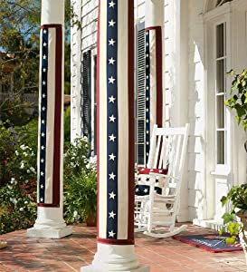 Vintage Stars and Stripes Cotton-Duck Pillar Bunting