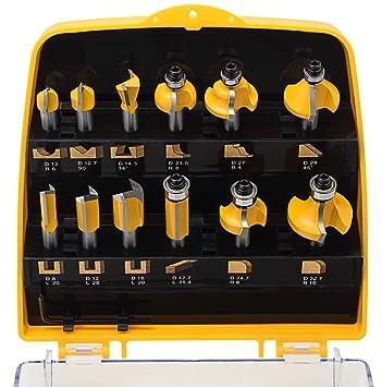 ent 12 tlg oberfr ser fr ser set in gelber kunststoffkassette schaft 8mm us213. Black Bedroom Furniture Sets. Home Design Ideas