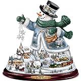 Thomas Kinkade Snowman Tabletop Centerpiece: Let It Snow by The Bradford Exchange
