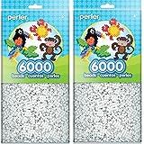 Perler Beads White Bead Bag (6000 Count) (2 Pack) (Tamaño: 2 Pack)