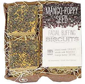 FarmHouse Fresh Farmhouse Fresh Mango Poppy Seed Facial Buffing Biscuits New