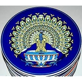 Pavo (21 cm fondo DE colour azul) BOPLA DE porcelana DE la placa adecuado como: DE pan DE platos DE postre DE plato DE platos DE ensalada platos DE acompañamiento DE platos DE pequeño plato, plato DE postre/platos DE ensalada/platos DE postre DE/plato DE petite ASSIENTE - plato llano Piccolo - Small Plate - Plato DE POSTRE 21 cm, 8-1/4 en.
