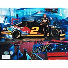 Rusty Wallace NASCAR Autographed Hand Signed 8x10 Photo -Standing next to his car- by Hall of Fame Memorabilia
