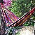 Leinwand Hängematte im Freien für Erwachsene Kinder-Indoor-Balkon verdickte Einzel Camping Hängematte Schaukel Wohnheim von Flying little witch Hammock auf Gartenmöbel von Du und Dein Garten