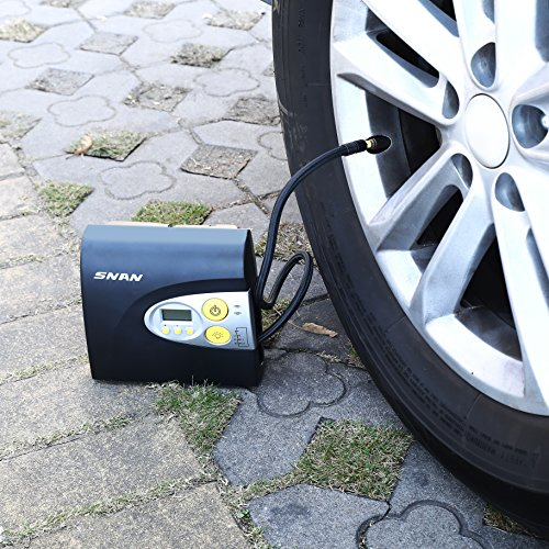 SNAN 12V Digital Tyre Inflator Car Air Compressor With Built In Light