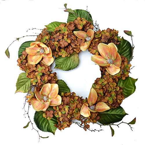 Fall Magnolia and Hydrangea Wreath WR4944