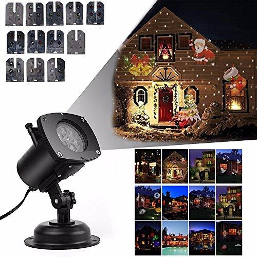 led projektionslampe weihnachtsbeleuchtung 12 verschiedene muster led strahler schneeflocke. Black Bedroom Furniture Sets. Home Design Ideas