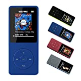 FenQan MP3 Player, MP3 Music Player HiFi Sound, Portable Multi-color, 8GB Memory Support 64G TF Card,70 Hours Playback 1.7