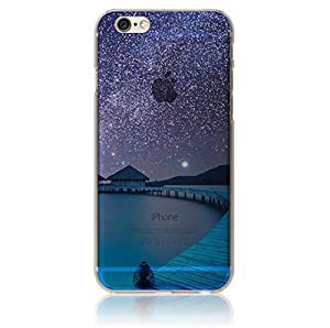 iPhone 6/6S Case, AnsTOP Beautiful Scenery Ultra Slim Hybrid TPU Bumper + Hard Back Panel Seamless Integrated Shock-Absorbing Protective Shell Cover For iPhone 6 6S