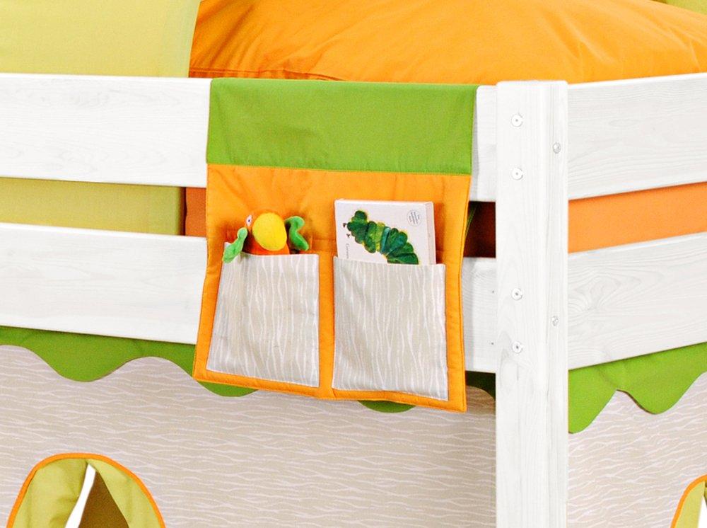 SAM® Organiser Dschungel für Kinderspielbetten – passend zum Spielbett Dschungel in grün – orange direkte Montage am Bett Lieferung mit einem Paketdienst günstig kaufen