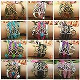 Harry Potter Deathly Hallows, Infinity, Owl, Believe Freedom Braided Leather Bracelet