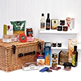 'Gabriel' Large Luxury Traditional Wicker Christmas Hamper with 35 Gourmet Festive Food Items