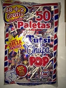 Amazon.com : Tutsi Chupa Pop Cherry Lollipops, Paletas