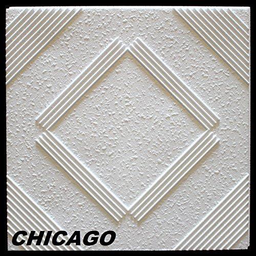 1 m2 deckenplatten styroporplatten stuck decke dekor platten 50x50cm chicago. Black Bedroom Furniture Sets. Home Design Ideas