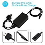 YIPBOWPT 65W Microsoft Surface Book & Surface Pro Charger,65W 15V 4A Power Adapter for Windows Tablet Surface Book 2 & Surface Pro 3 Pro 4 Pro 5 & Surface Laptop with 5V 1A USB Charging Port (Color: Surface Book & Surface Pro 3/4/5, Tamaño: 15V 4A 65W)