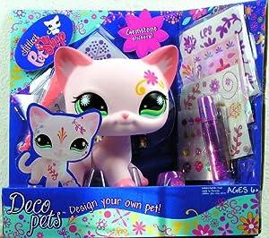 Littlest petshop deco pets grand chat rose stickers jeux et jouets - Grand petshop ...