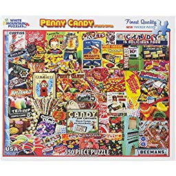 White Mountain Puzzles Penny Candy - 550 Piece Jigsaw Puzzle