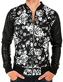 Veste Sweat Teddy Noir imprimé fleurs Roses noir et blanc IMPOSSIBLE 55 de la marque CELEBRY TEES (XL)...