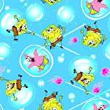 Crafty Cuts 2-Yards Cotton Fabric, SpongeBob Squarepants