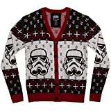 Mighty Fine Star Wars Storm Trooper Christmas Cardigan Sweater